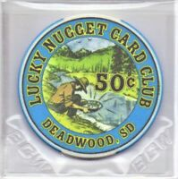 Lucky Nugget Card Club 50 Cent Gaming Chip Deadwood South Dakota As Pictured