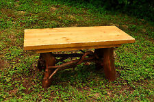 Rustic Tree Trunk Wood Coffee Table Log Cabin Art Furniture FREE SHIPPING gold