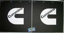 "Pair 24"" x 24"" Cummins Logo Mud Flaps Dodge Ram Truck mudflap dump rear cummings"