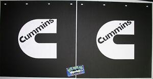 "Pair 24"" x 24"" Cummins Logo Mud Flaps Dodge Ram Truck mudflap dump rear cummings"