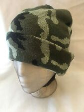 Collection Eighteen Mens Beanie Stocking Hat Green Camouflage One Size Fits All