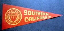 "Vintage University of Southern California Mini Pennant Paper Sticker 8"" x 3 1/2"