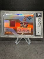 2005 ALEX SMITH LEAF LIMITED BRONZE #8/25 Jersey Patch BGS 7 Autograph Rookie💥