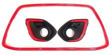 MITSUBISHI OUTLANDER SPORT ASX 2013-2015 FRONT BUMPER Fog Grille + MOLDING RED