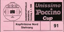 Ticket 02./03.01.1988 HT Baunatal mit Borussia Mönchengladbach, Sparta Prag, ...