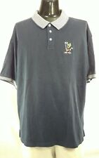 Warner Bros Studios Store Mens Sz XL Golf Polo Shirt Marvin The Martian Navy