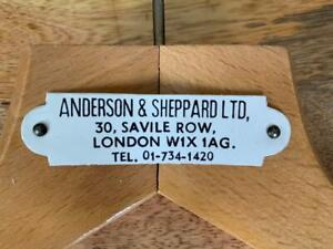 LOT OF FIVE (5) ANDERSON & SHEPPARD 30 Savile Row SUIT HANGERS bespoke