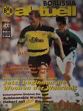 Programm 1997/98 Borussia Dortmund - Werder Bremen