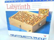 LABYRINTH Labrinth Solitaire GAME Wood Board Skill Oak Vintage FAMILY FUN Night