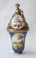 ANTIQUE GEORGIAN BILSTON ENAMEL ON COPPER PERFUME SCENT BOTTLE BONBONNIERE C1770
