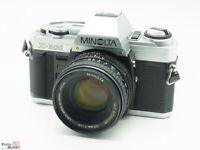SET: Minolta X-300 SLR-Kamera mit Objektiv MD Rokkor 50mm 1,7 (Ø55mm)