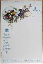 French Wine 1920s Advertising Menu: Grands Crus de l'Anjou - 'Le Vin d'Anjou'