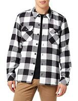 Dickies Men's BK Black Plaid Sacramento L/S Flannel Shirt (Retail $44.99)
