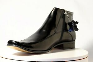 CK1331 Chris Kaadu Men Dress Comfort Shoe Boot  Black