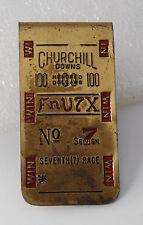 "Rare Churchill Downs 100  ""FnV7X""  No7 Seventh (7) Race Money Clip Pre-Owned"