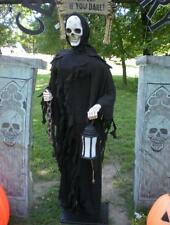 ANIMATED LIFE SIZE 6 FOOT 2 KEEPER OF THE GATE w/ LANTERN HALLOWEEN DISPLAY PROP