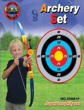 Toy Bow and Arrow Archery set with 3 Suction Cup Arrows and Target