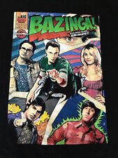Big Bang Theory Bazinga M Black T Shirt Pre-Owned Sheldon Leonard Penny Medium