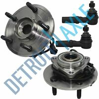 Dodge Ram 1500 Front 2002-2005 2 Wheel Bearing Hub Assembly 2 Outer Tie Rod ABS