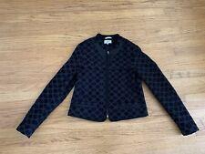NOA NOA black geo textured zip jacket sz 38/ L