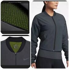 Nike Aerolayer Training Jacket Women's Black Dark Grey XL cropped Bomber