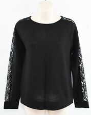DKNY Women's Lightweight Jumper, Wool Blend, Black, size S