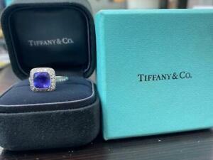 Tiffany & Co Platinum Legacy Tanzanite & Diamond Ring 2.90CT