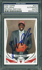 Bulls Luol Deng Authentic Signed Card 2004 Topps Rookie #227 PSA/DNA Slabbed