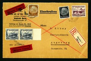 Germany  D. Reich  VF used cover AUGSBURG 1937  see 2 scan  (567)