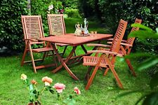 Sitzgruppe Gartengarnitur Gartenmöbel Set CORDOBA klappbar 5-teilig, Holz FSC