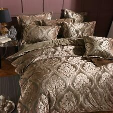 Flannel Jacquard Bedding Set Duvet Cover Bed Sheet Pillowcases Queen King Size