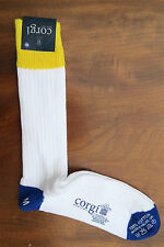 Corgi Mens Cotton Socks Size Medium Coloured Heel Toe Made in Wales Medium Thick
