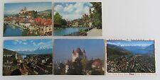 Postkarten Lot Schweiz 5x THUN Kanton Bern color AK mit Briefmarken ab/nach 1963