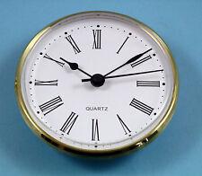 MEGA-QUARTZ 100mm BEZEL Quartz Clock  insert movement White Roman dial