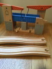 Wooden Drawbridge Train Track Railway Thomas Lifting Bridge Fits Brio Elc Bigjig