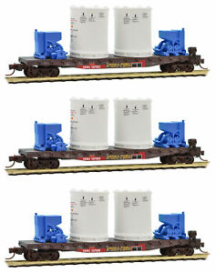 Micro-Trains MTL N-Scale Titan Rocket Booster Flat Cars/Load (Ex-SP) 3-Pack
