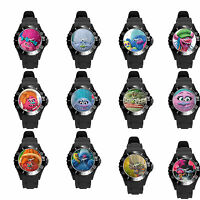 Colorful black pink white Purple Grey Brown Trolls girls boys adult Wrist Watch