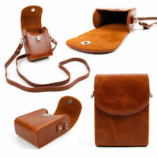 Faux Leather Case in 'Vintage' Brown for Canon IXUS 180 Camera