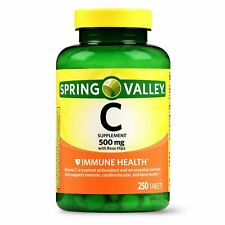 Spring Valley Vitamin C Tablets, 500 mg, 250 Ct (BRAND NEW & SEALED) EXP 03/24