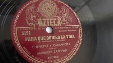Chencho Y Carrancita - 78rpm single 10-inch – Azteca #5192 Para Que Quiero La...