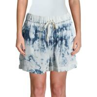 Aqua Womens Tencel Tie-Dye Cuffed Casual Shorts BHFO 3157