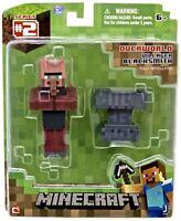 "Official Minecraft 3 Inch 3"" Villager Blacksmith Action Figure Jazwares"