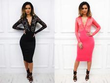 Clubwear Regular Size Dresses Midi