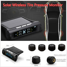 Solar Power TPMS Tyre Tire Pressure Monitor System+4 Wireless External Sensors