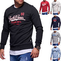 Jack & Jones Herren Sweatshirt O-Neck Label Print Langarmshirt Herrenshirt Shirt