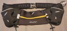 Fetletic Running Hydration Belt with Pouch and Two Bottle Holders