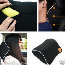 Car Black Seat  Headrest Pad Head Neck Rest Support Cushion Memory Foam Pillow