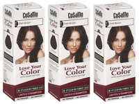 CoSaMo Hair Color #779 Dark Brown - Compares to Clairol Loving Care #79 (3 Pack)