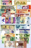WORLD BANKNOTES LOT SET 20 PCS ALL FROM DIFFERENT 20 COUNTRIES # 2 UNC