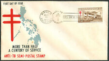 1961 Philippines ANTI-TB SEMI-POSTAL STAMP First Day Cover - C